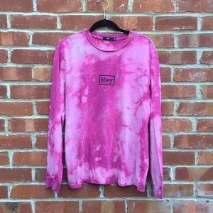 OBEY pink long-sleeve